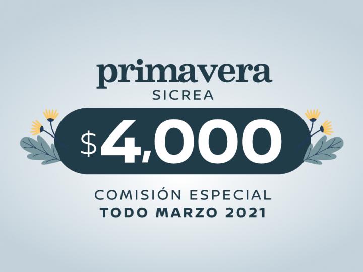 ¡Comisión especial de $4,000 durante todo marzo!
